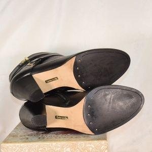Louise et Cie Shoes - Louise Et Cie Black Leather Heeled Ankle Boots EUC